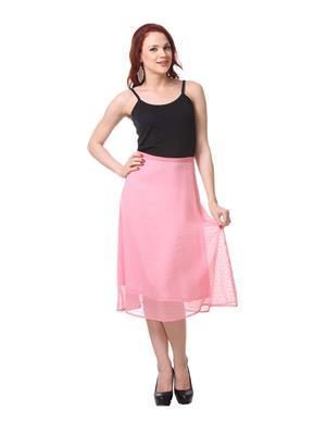 Meee 4423 Pink Midi Women Skirt