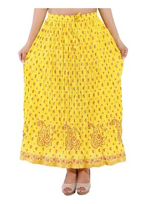 Decot SKT3005 Yellow Women Skirt