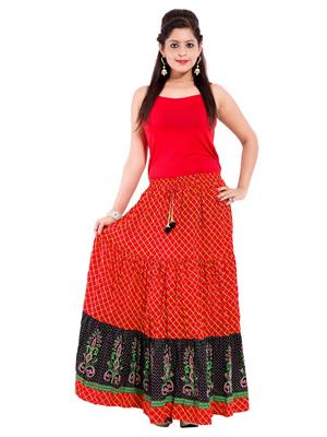 Decot SKT3014 Red Women Skirt