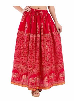 Decot SKT326 Red Women Skirt