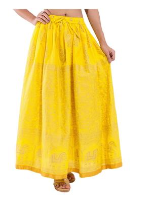 Decot SKT328 Yellow Women Skirt