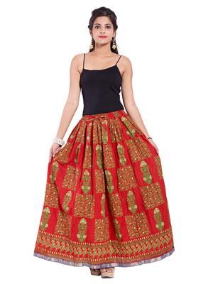Decot SKT332 Red Women Skirt