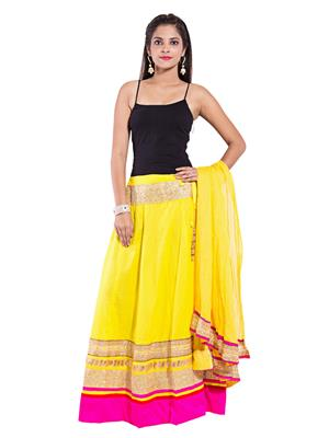 Decot SKT345 Yellow Women Skirt