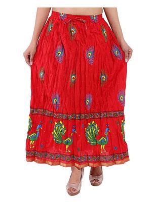 Decot SKT377 Red Women Skirt