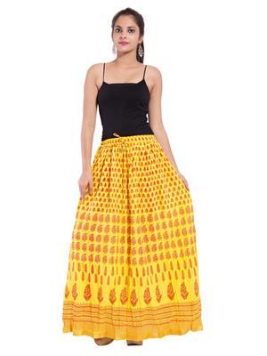 Decot SKT389 Yellow Women Skirt