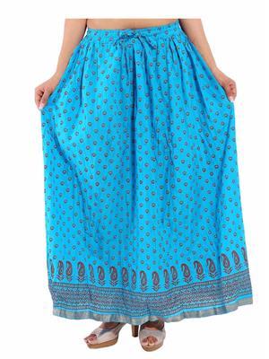 Decot SKT396 Sky Blue Women Skirt
