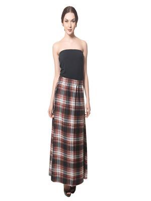 Lauriel SKT9003-Check-Rd Red Women Skirt