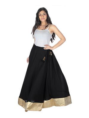 Sassily Skt9020-Black Women Skirt