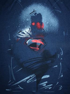 Superman SP1CMT470 Mens T-Shirt
