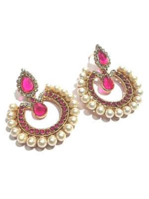 Shree Mauli Creation SMC045 Dark Pink Women Earring