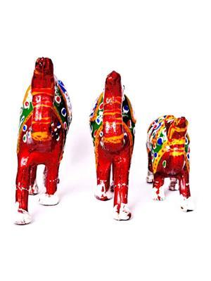 ShopMeCraft SMCH35 Red Decorative Camel Showpiece Pack Of 3