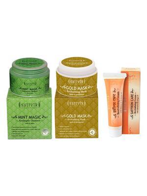 Sattvik Organics SOC60 Unisex Smooth And Radiant Skin Combo