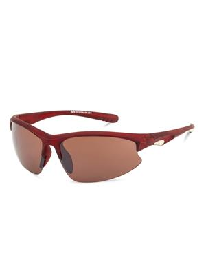 Rafa SPT20030BRN Brown Unisex Wrap Sunglasses