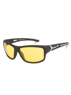 Rafa SPT332BLKYEL Black Unisex Wrap Sunglasses
