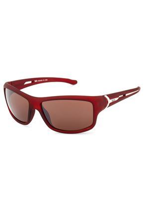 Rafa SPT332BRN Brown Unisex Wrap Sunglasses