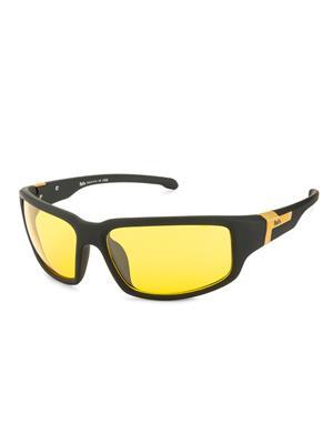 Rafa SPT572RBLKYEL Black Unisex Wrap Sunglasses