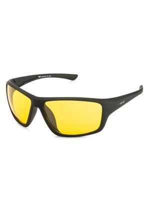 Rafa SPT8412BLKYEL Black Unisex Wrap Sunglasses