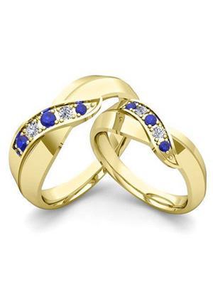 Silvosky Sr32 Gold Crystal Ring Set