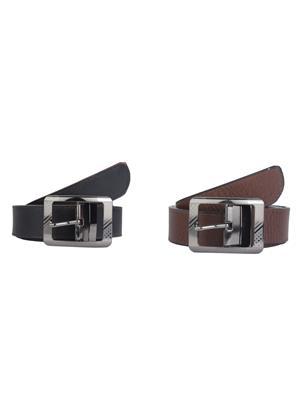 Srs 025-024-Black-Brown Men Belt Set Of 2
