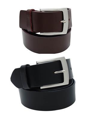 Srs 101-32-Black-Brown Men Belt Set Of 2