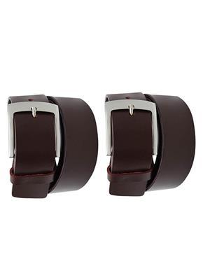 Srs 101-32-Brown Men Belt Set Of 2