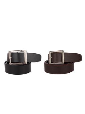 Srs 201-32-Brown-Black Men Belt Set Of 2