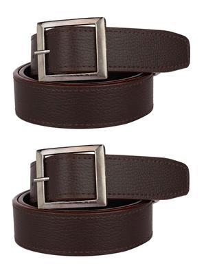 Srs 201-32-Brown Men Belt Set Of 2