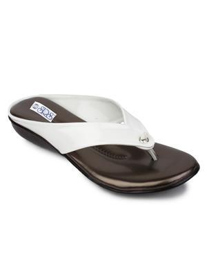Srs-830-White Women Slipper