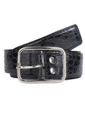 Srs Blkcroc-00023 Black Men Belt