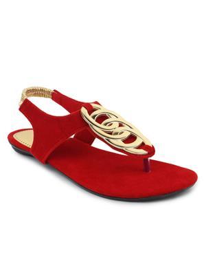 Srs-R-1-Red Women Sandal