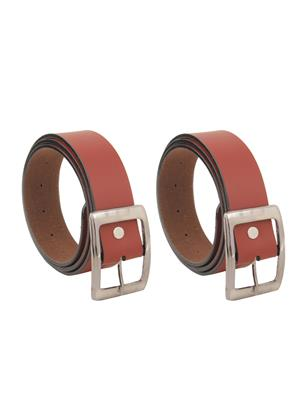 Srs Bhn-1101-Brown Men Belt Set Of 2