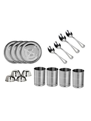 SS Silverware SS28 Silver Dinner Set Sets Of 16