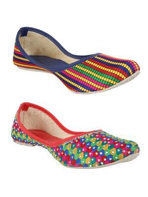 Sassily SS-219-212 Multicolored Women Juti Set of 2