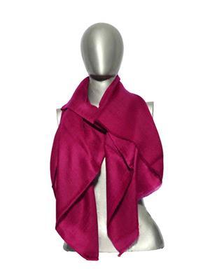 Kaka SS01 Pink Women Plain Pashmina Shawls