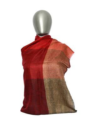 Kaka SS09 Maroon Women Designer Handmade Pashmina Shawls