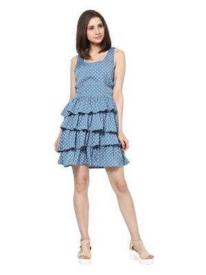 SS 1006  Blue Women Dress