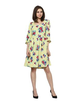 SS 1040  Yellow Women Dress