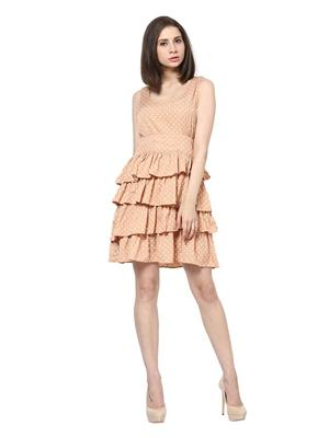 SS 1061  Beige Women Dress