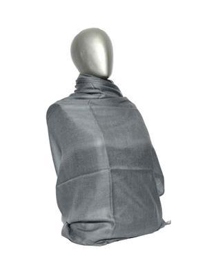 Kaka SS10 Grey Women Semi Pashmina Shawls