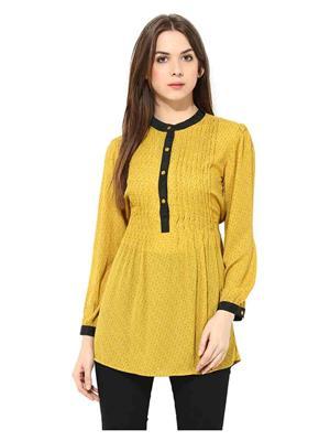 SS 1184  Yellow Women Tunic
