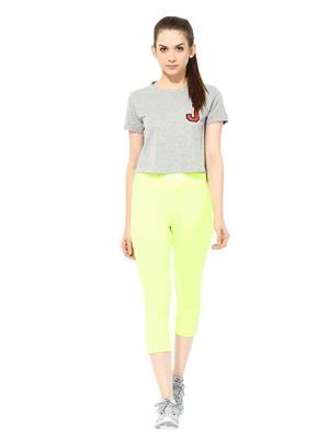 SS 1201  Yellow Women Sports & Trackwear