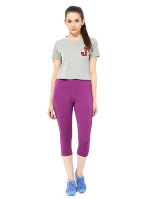 SS 1203  Purple Women Sports & Trackwear