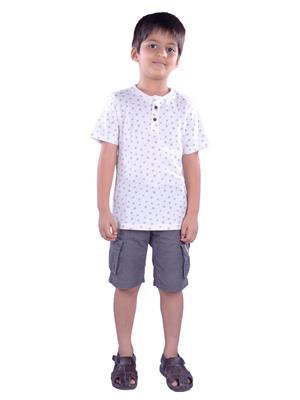COLSA SS15JE-12WHT White Boys T Shirt