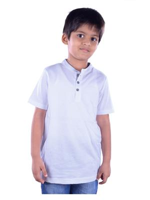 COLSA SS15JE-16WHT White Boys T Shirt