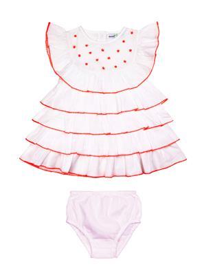 Shoppertree St-1631 White Girl Dress