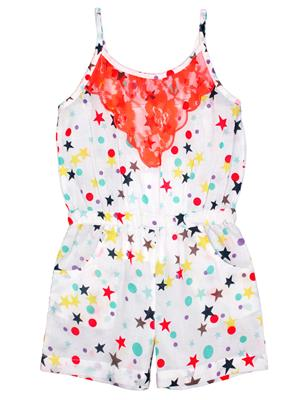 ShopperTree ST-1636 Multicolored Girl Jumpsuit