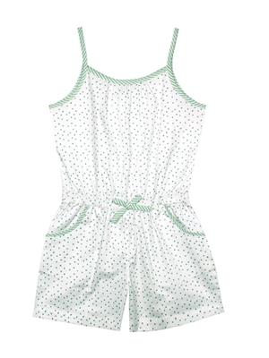 ShopperTree ST-1641 Green  Girl Jumpsuit