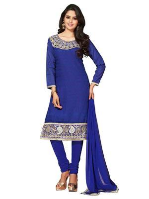 Nilkanth Communication ST018-30001 Blue Women Dress Material