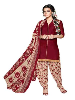 Nilkanth Communication ST0339004 Red Women Dress Material