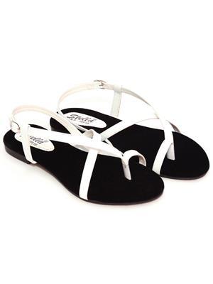 Stella 8 White Women Sandals